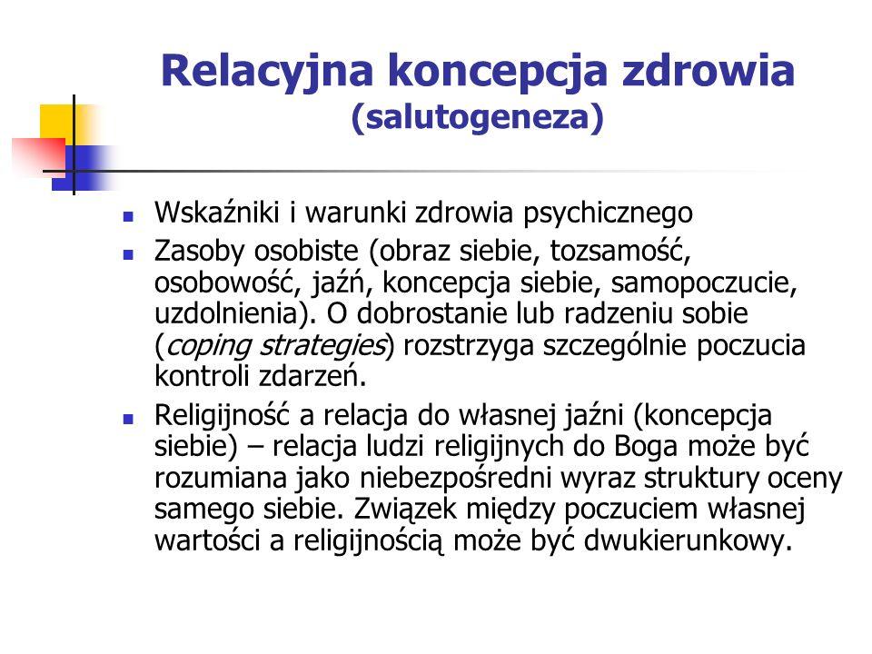 Relacyjna koncepcja zdrowia (salutogeneza)