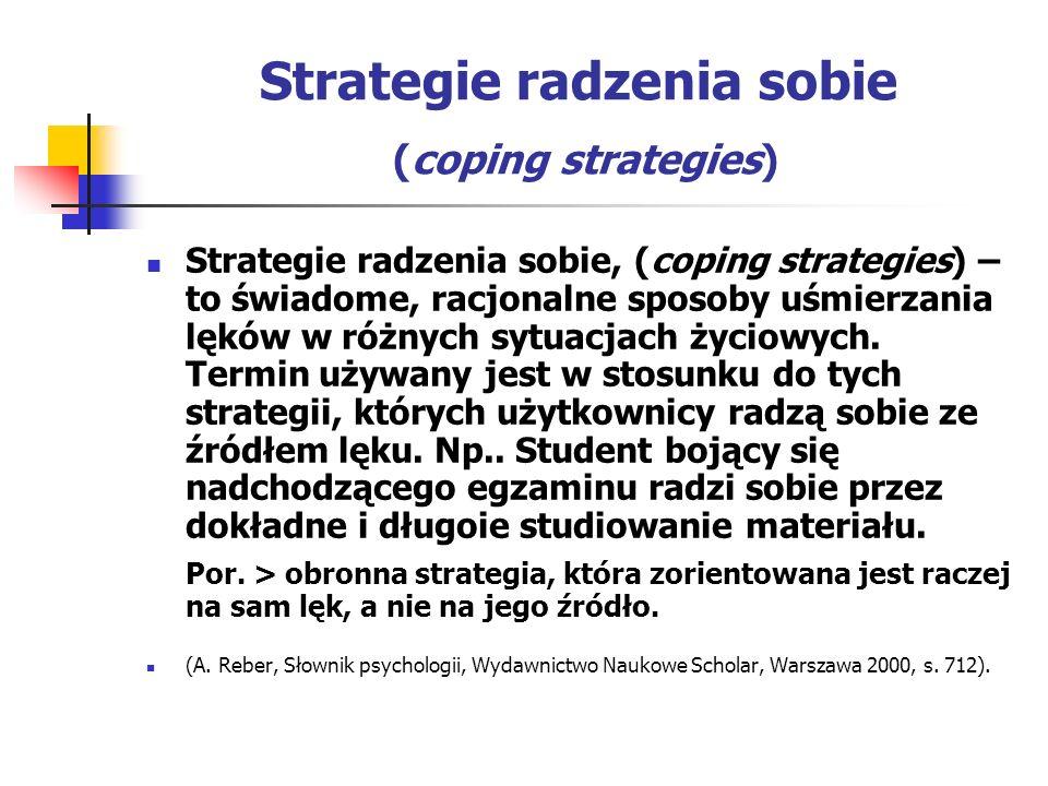 Strategie radzenia sobie (coping strategies)