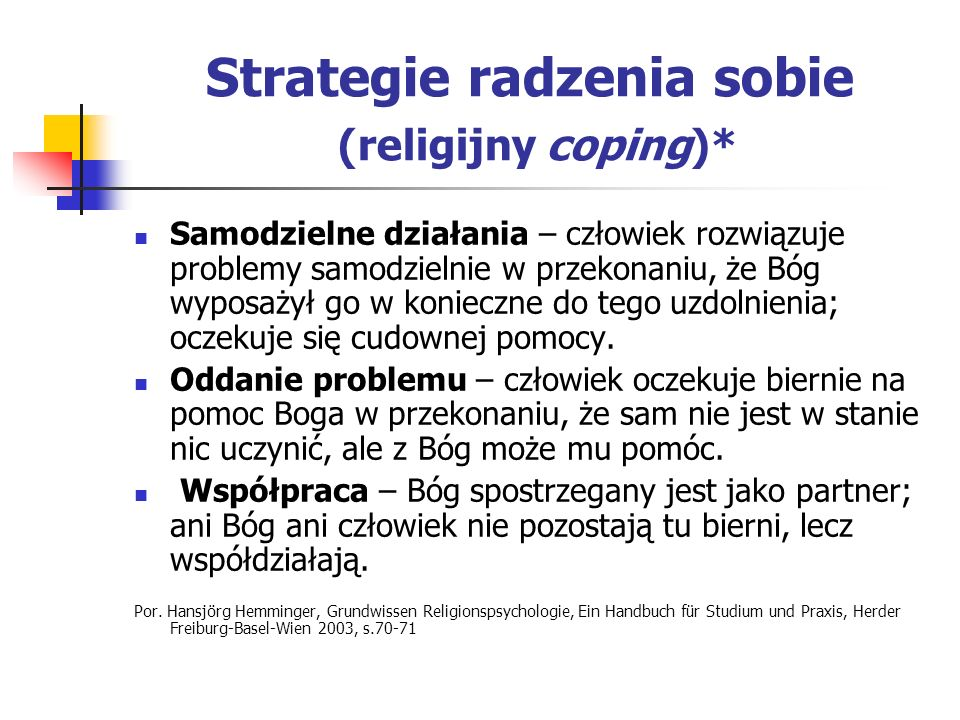 Strategie radzenia sobie (religijny coping)*