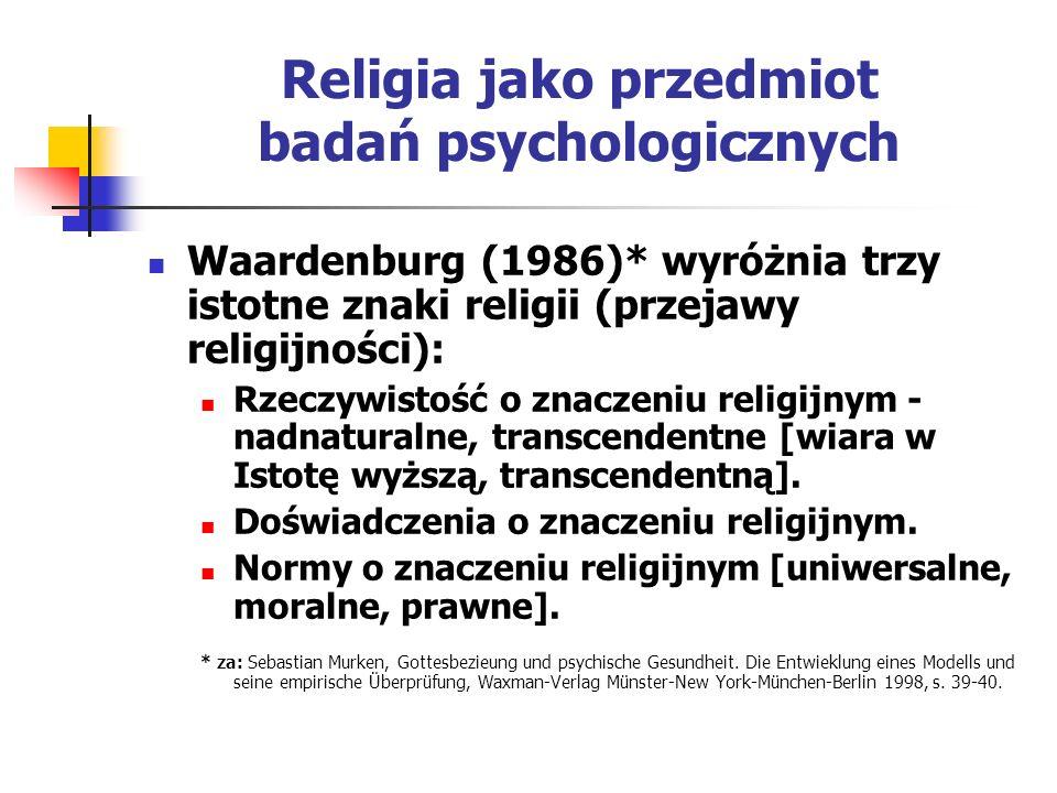 Religia jako przedmiot badań psychologicznych