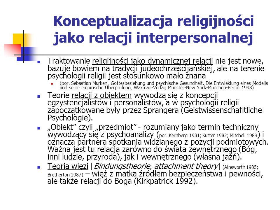 Konceptualizacja religijności jako relacji interpersonalnej