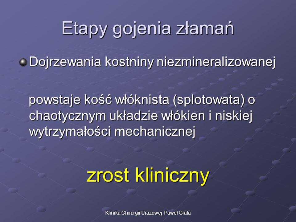 Klinika Chirurgii Urazowej Paweł Grala