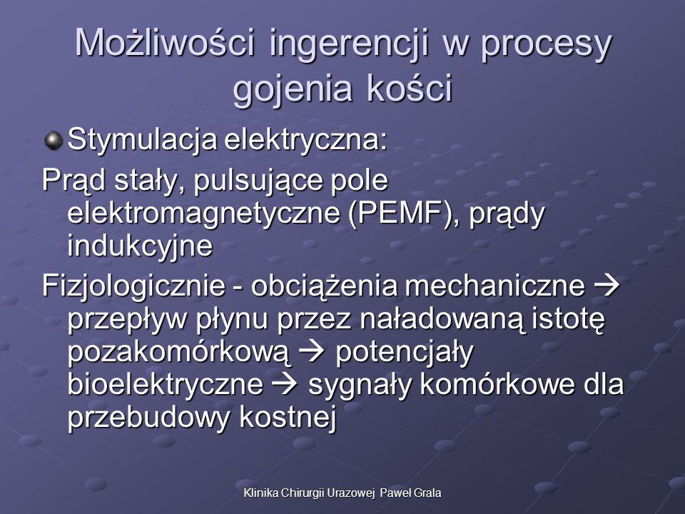 Możliwości ingerencji w procesy gojenia kości