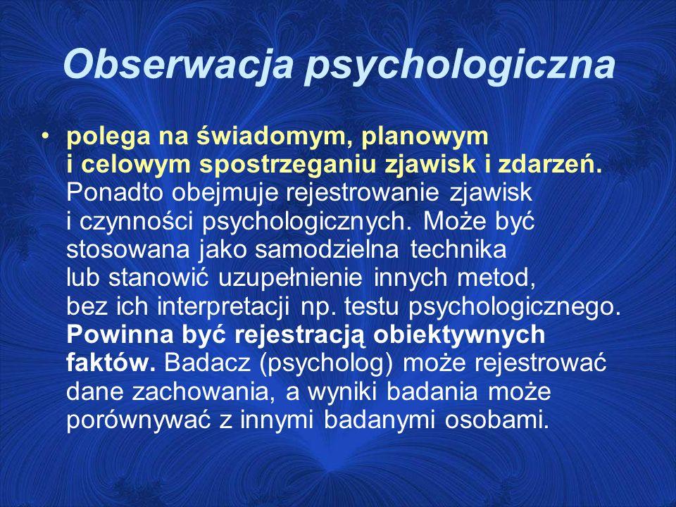 Obserwacja psychologiczna