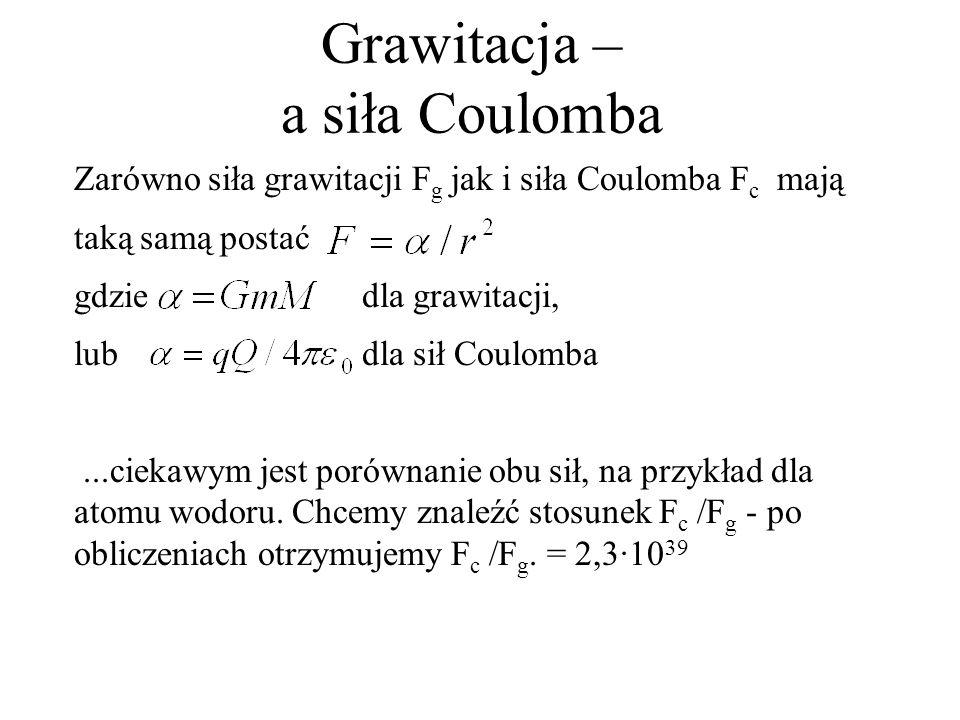 Grawitacja – a siła Coulomba