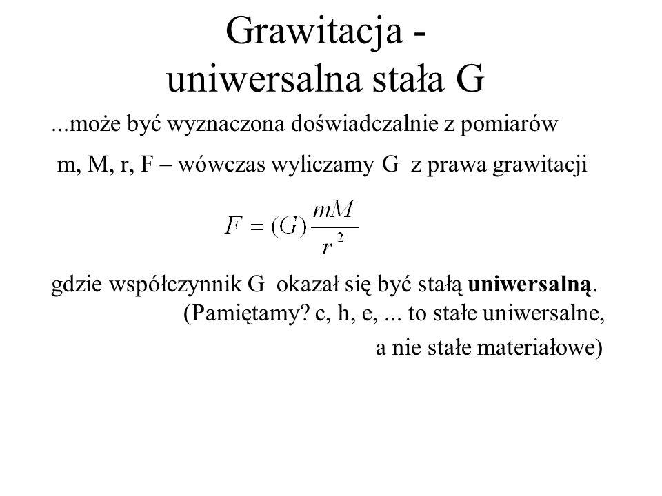 Grawitacja - uniwersalna stała G