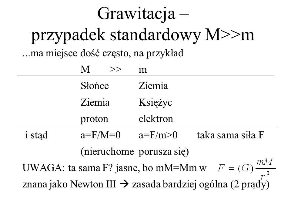 Grawitacja – przypadek standardowy M>>m