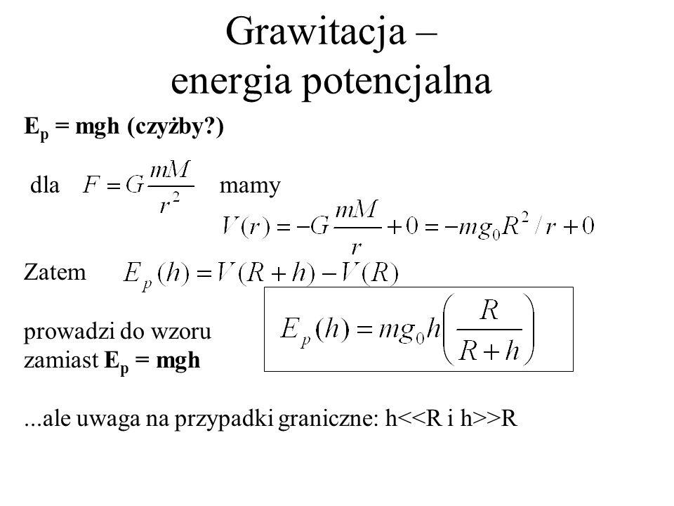 Grawitacja – energia potencjalna