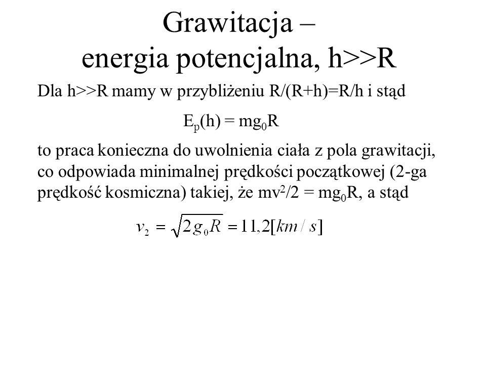 Grawitacja – energia potencjalna, h>>R