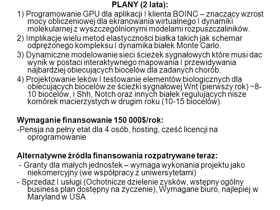 PLANY (2 lata):