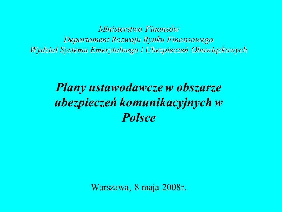 Plany ustawodawcze w obszarze ubezpieczeń komunikacyjnych w Polsce