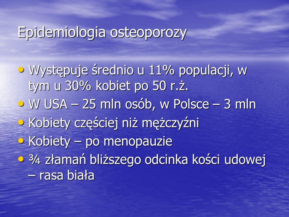 Epidemiologia osteoporozy