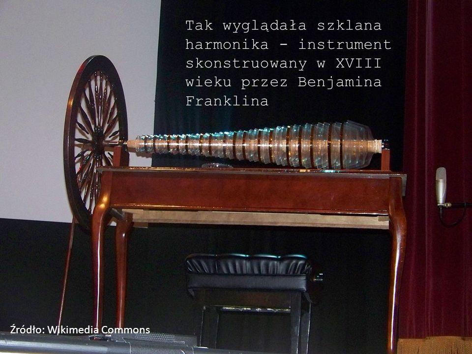 Tak wyglądała szklana harmonika - instrument skonstruowany w XVIII wieku przez Benjamina Franklina