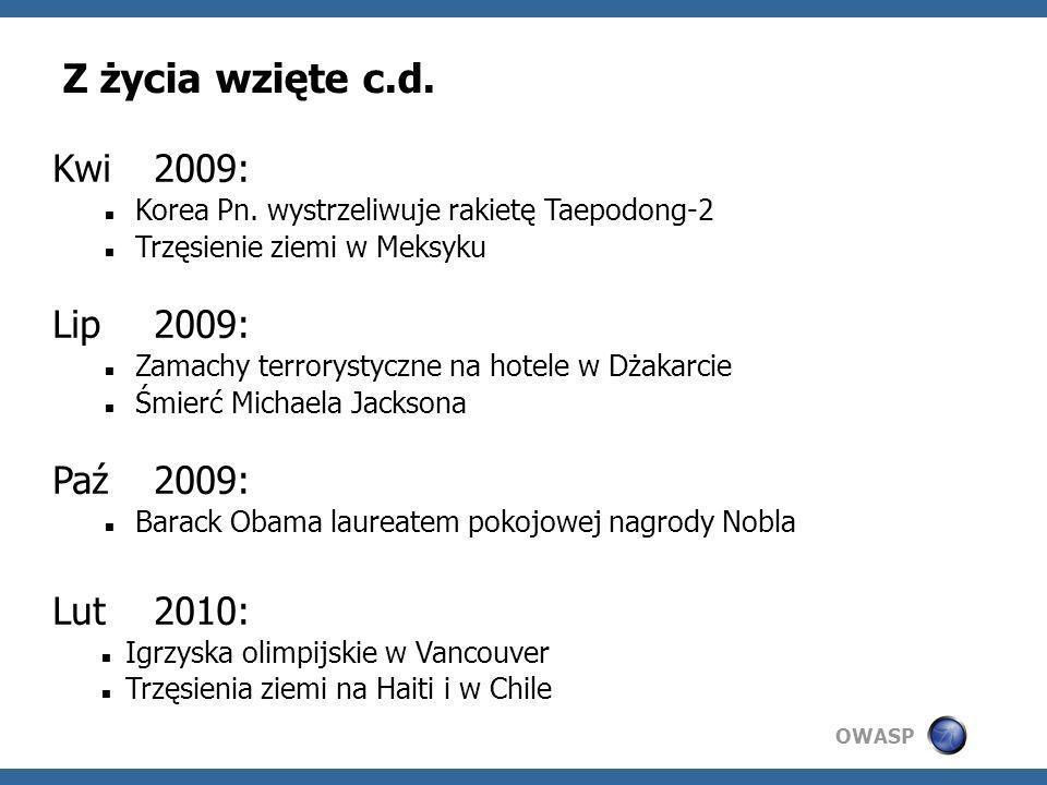 Z życia wzięte c.d. Kwi 2009: Lip 2009: Paź 2009: Lut 2010: