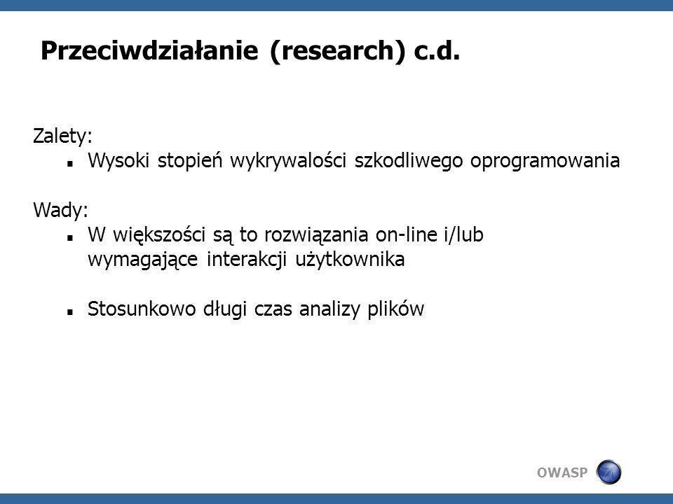 Przeciwdziałanie (research) c.d.