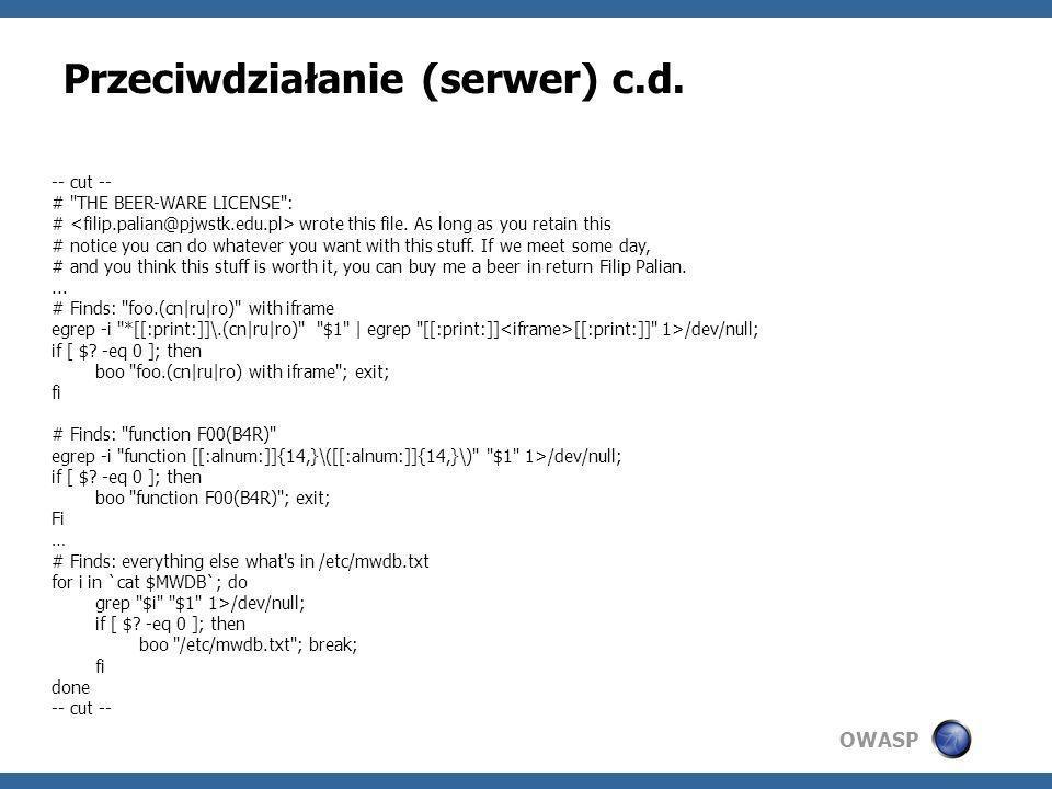 Przeciwdziałanie (serwer) c.d.