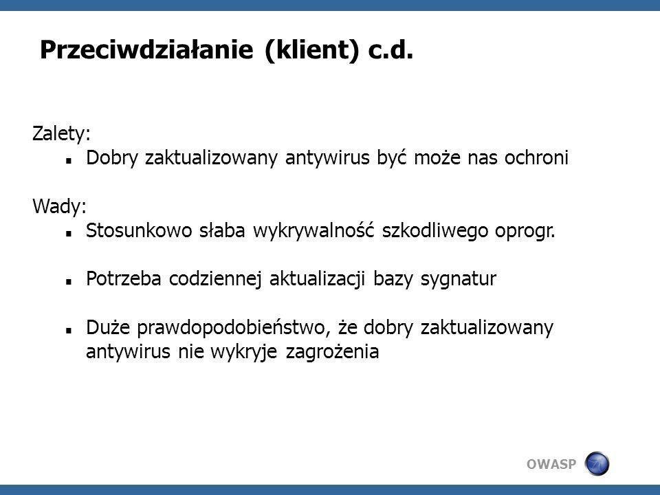 Przeciwdziałanie (klient) c.d.