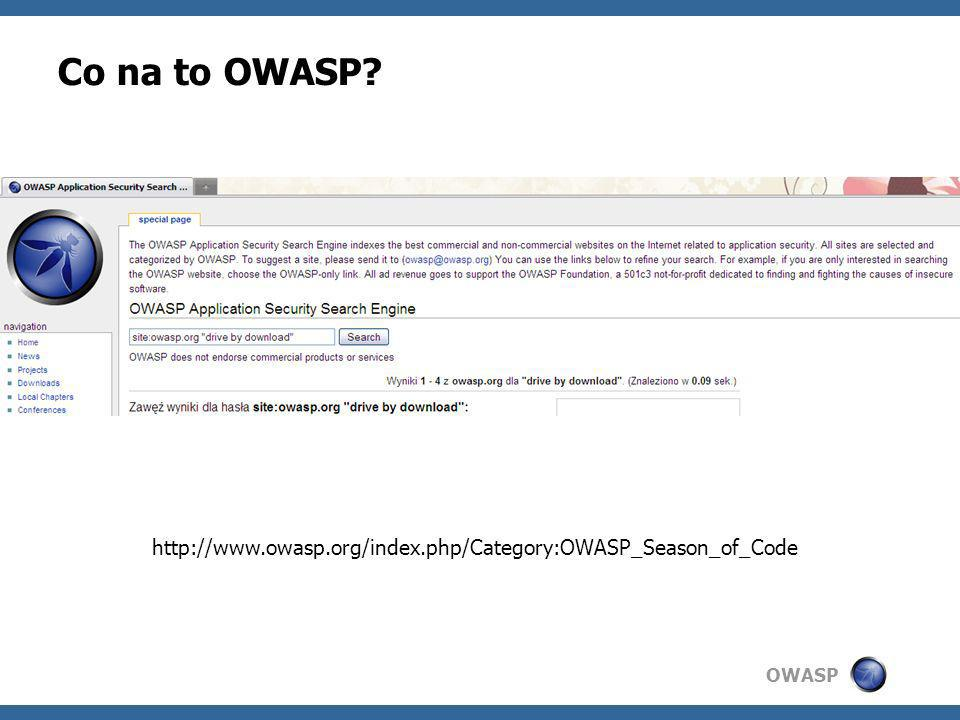 Co na to OWASP http://www.owasp.org/index.php/Category:OWASP_Season_of_Code