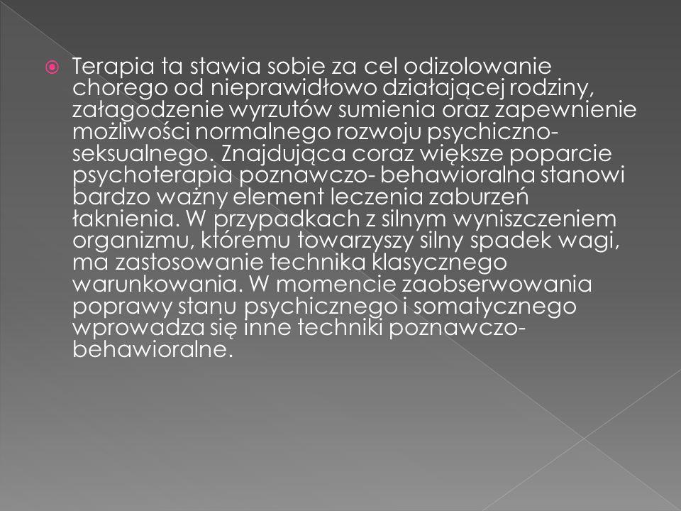 Terapia ta stawia sobie za cel odizolowanie chorego od nieprawidłowo działającej rodziny, załagodzenie wyrzutów sumienia oraz zapewnienie możliwości normalnego rozwoju psychiczno- seksualnego.