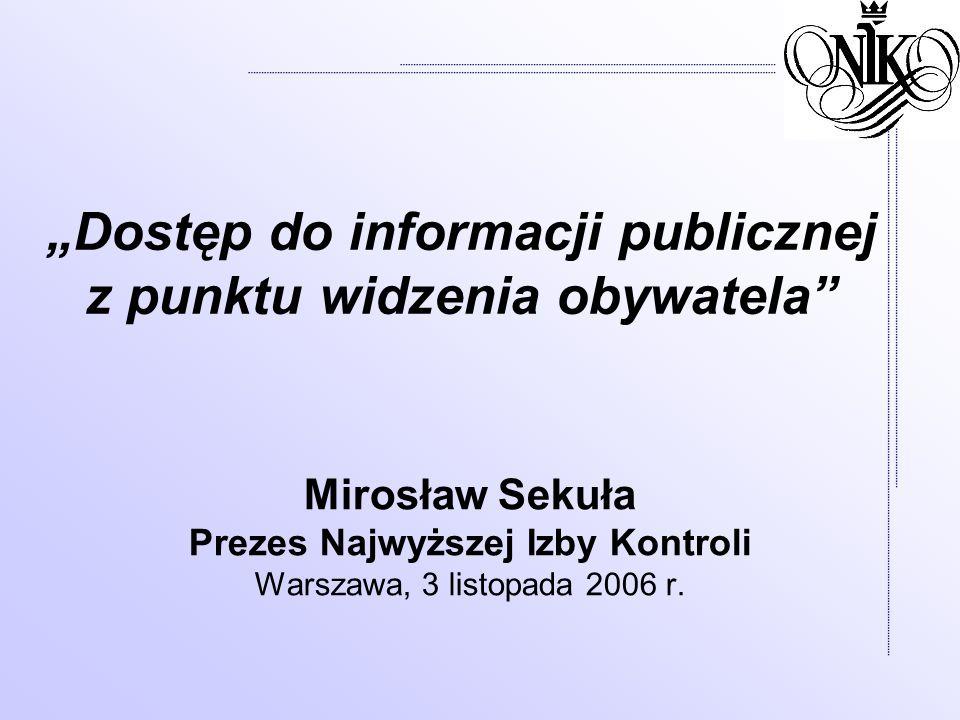 """""""Dostęp do informacji publicznej z punktu widzenia obywatela"""