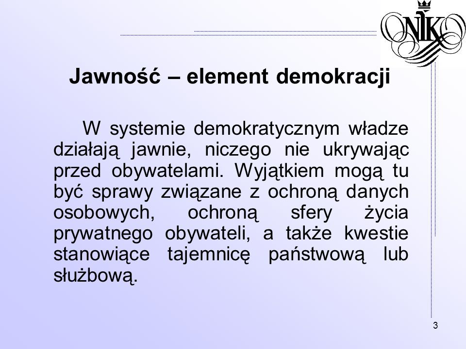 Jawność – element demokracji