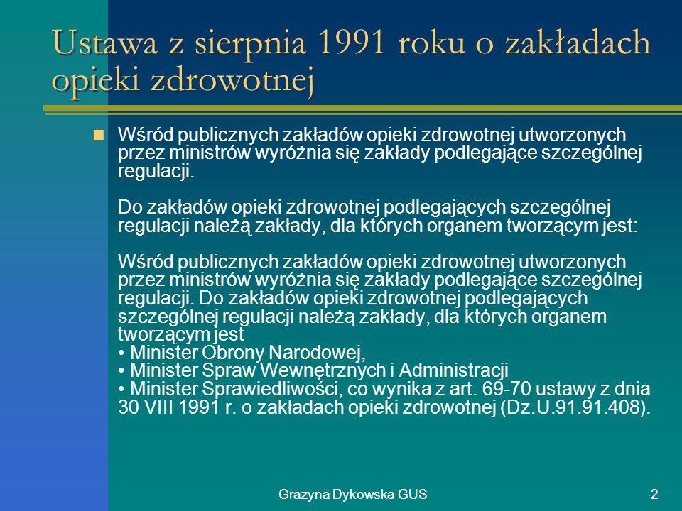 Ustawa z sierpnia 1991 roku o zakładach opieki zdrowotnej
