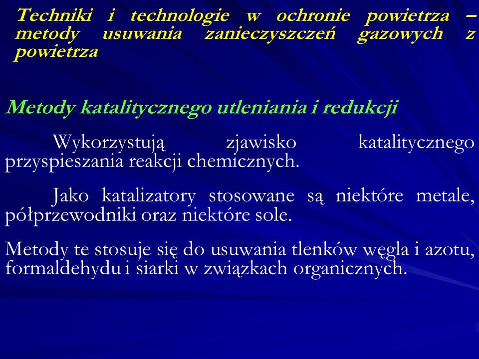 Metody katalitycznego utleniania i redukcji