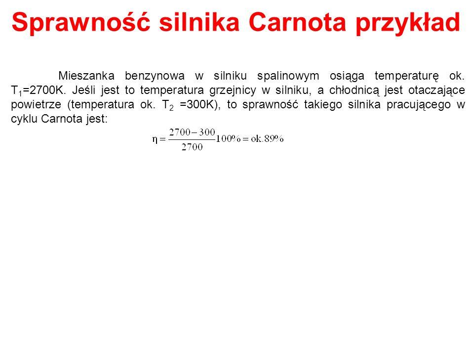 Sprawność silnika Carnota przykład