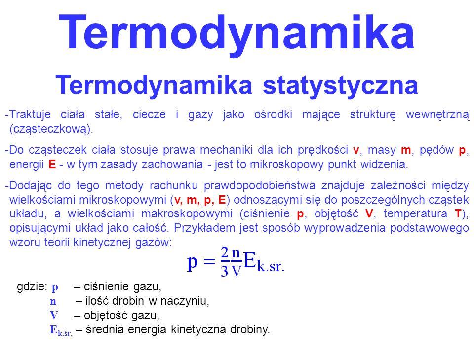 Termodynamika statystyczna