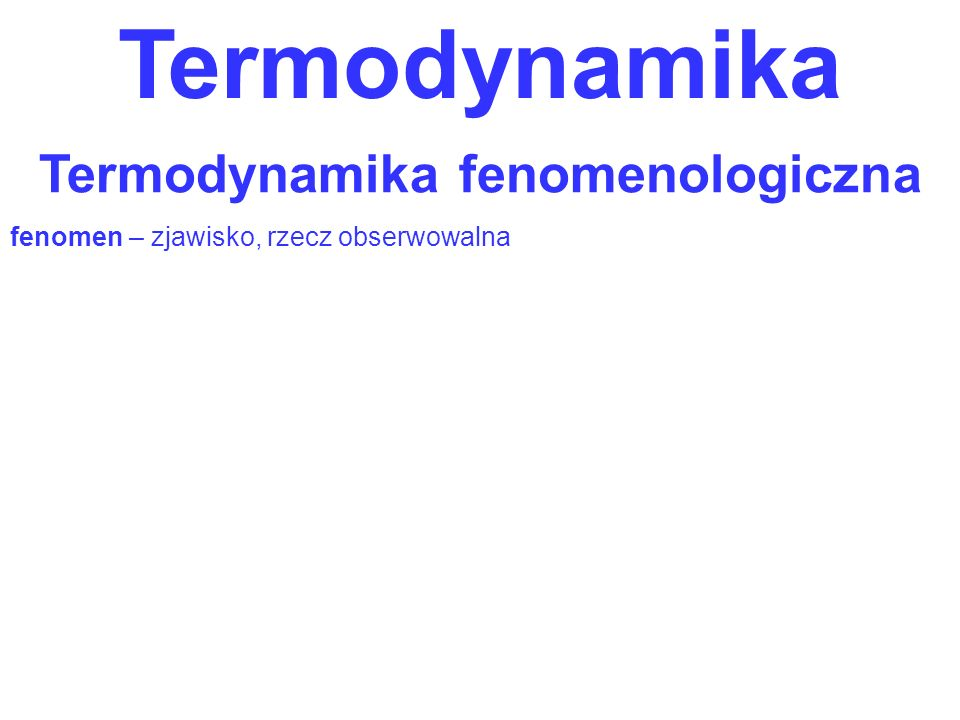 Termodynamika fenomenologiczna