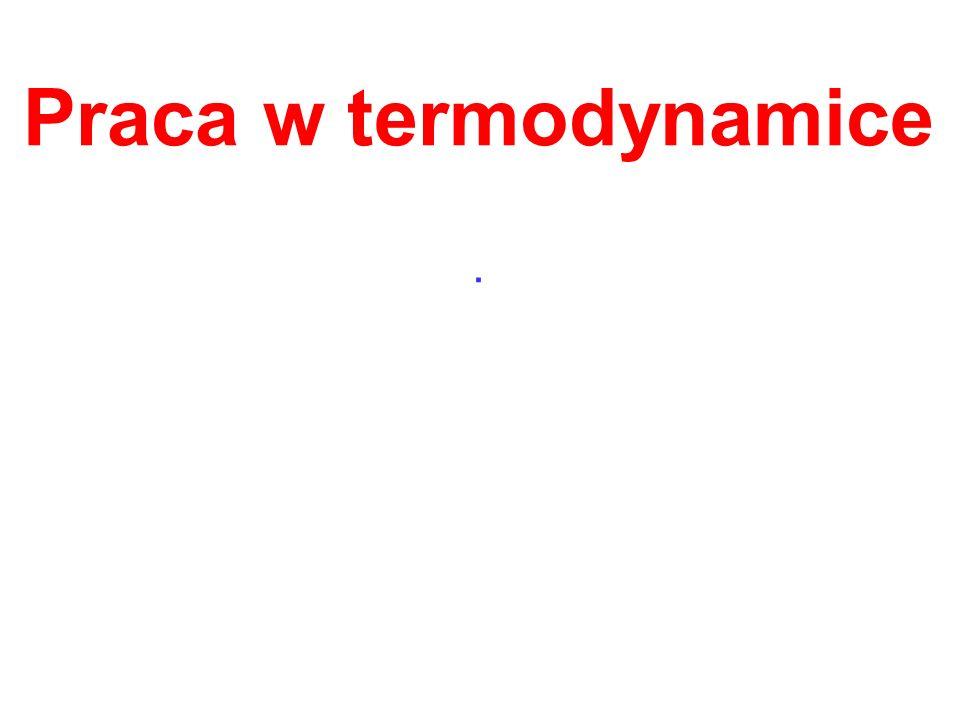 Praca w termodynamice .