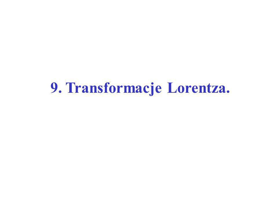 9. Transformacje Lorentza.