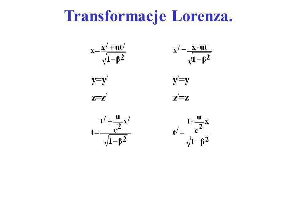 Transformacje Lorenza.