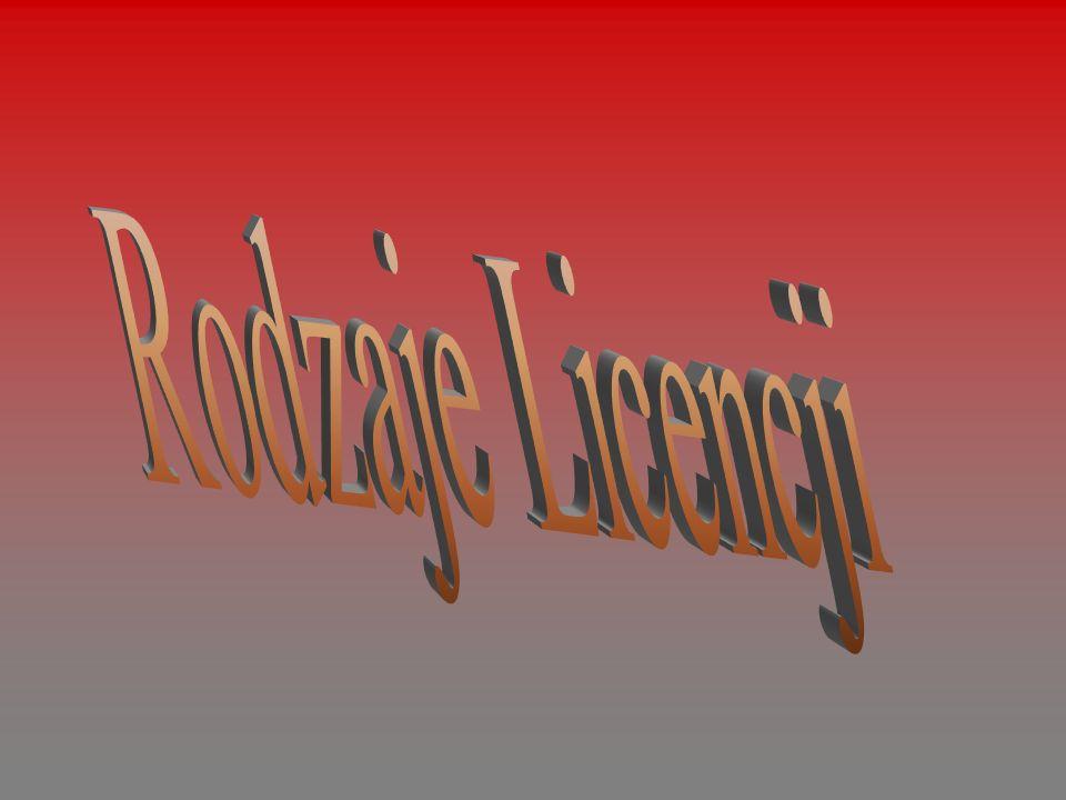 Rodzaje Licencji