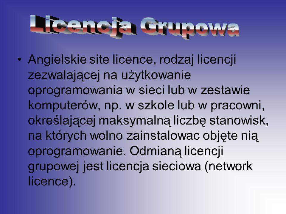 Licencja Grupowa