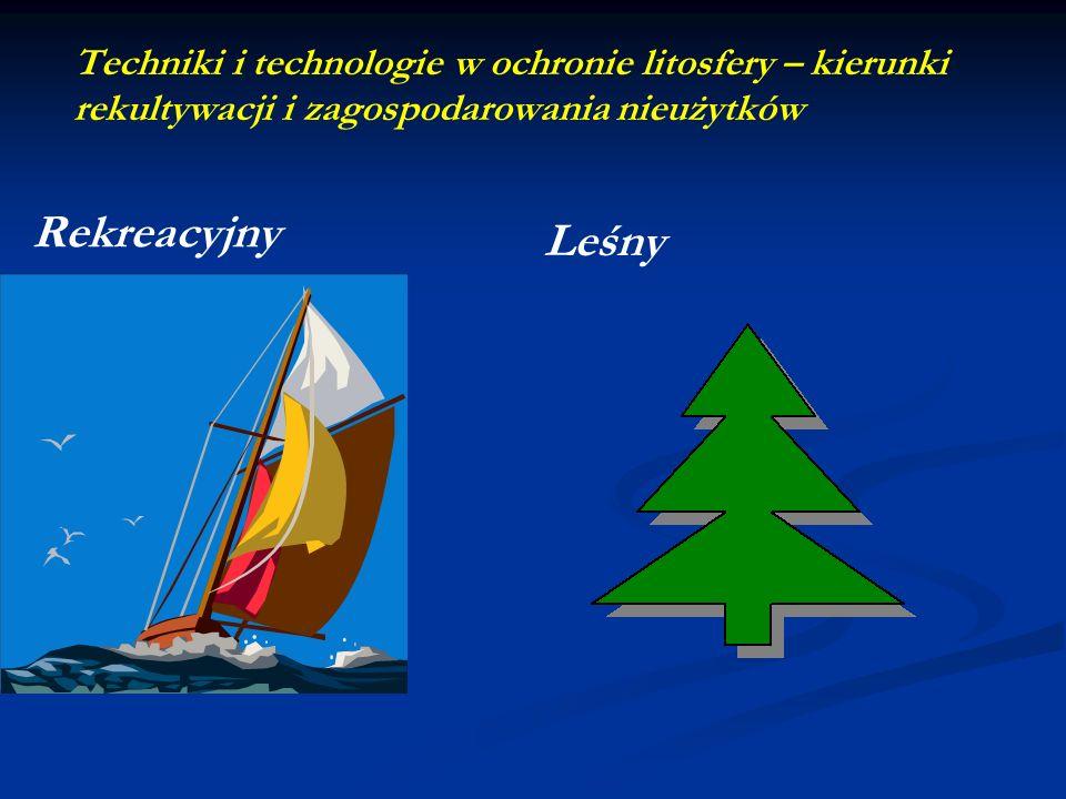 Techniki i technologie w ochronie litosfery – kierunki rekultywacji i zagospodarowania nieużytków