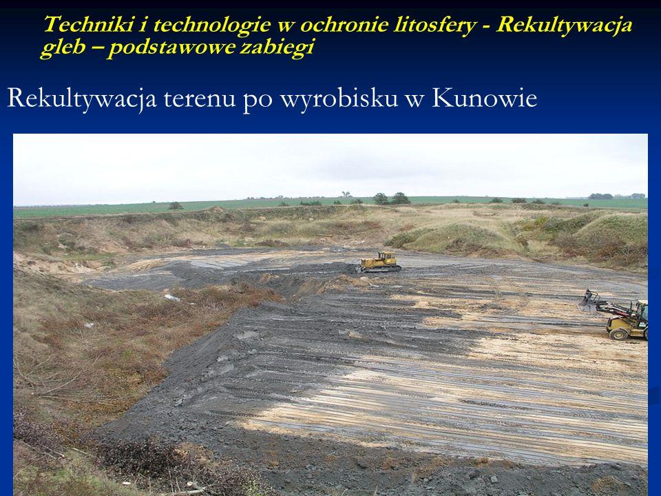 Rekultywacja terenu po wyrobisku w Kunowie