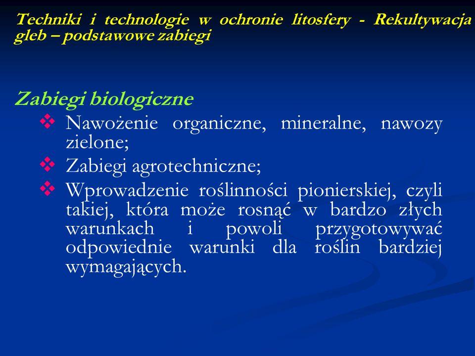 Nawożenie organiczne, mineralne, nawozy zielone;