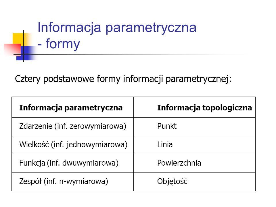 Informacja parametryczna - formy