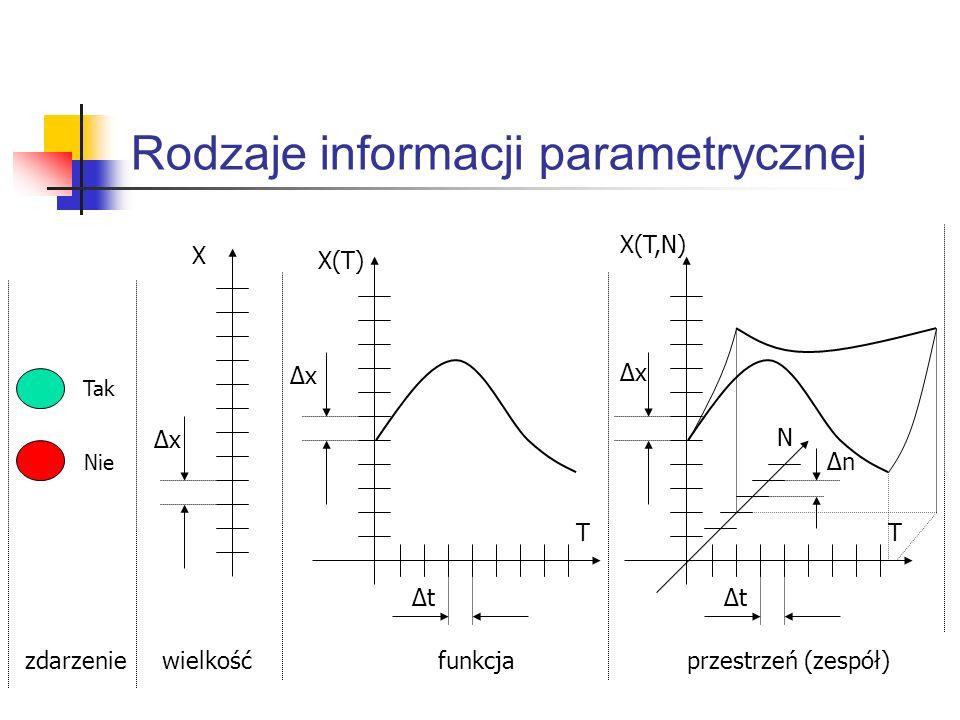 Rodzaje informacji parametrycznej