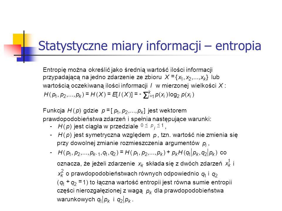 Statystyczne miary informacji – entropia