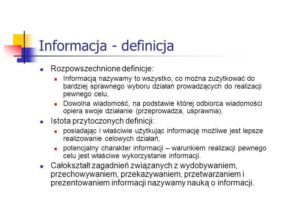 Informacja - definicja