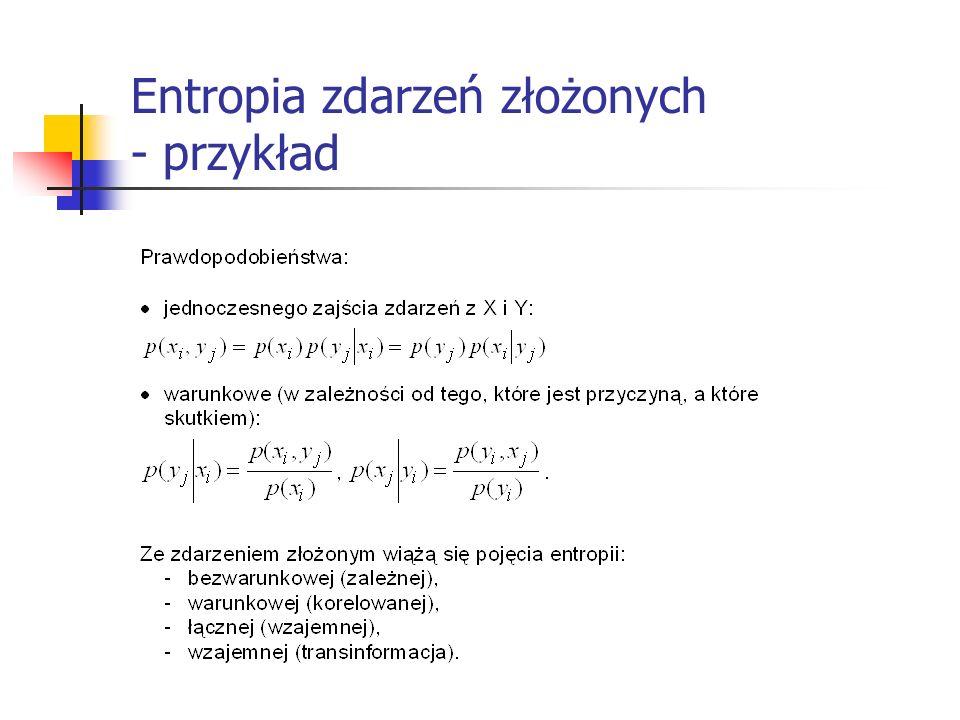 Entropia zdarzeń złożonych - przykład