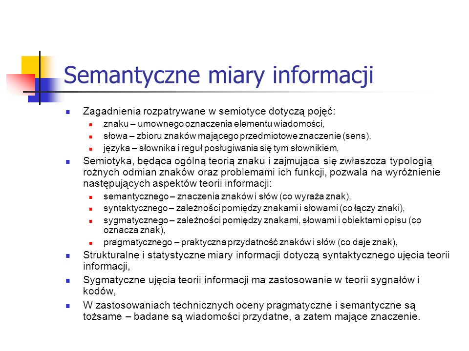 Semantyczne miary informacji