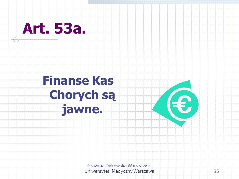 Finanse Kas Chorych są jawne.