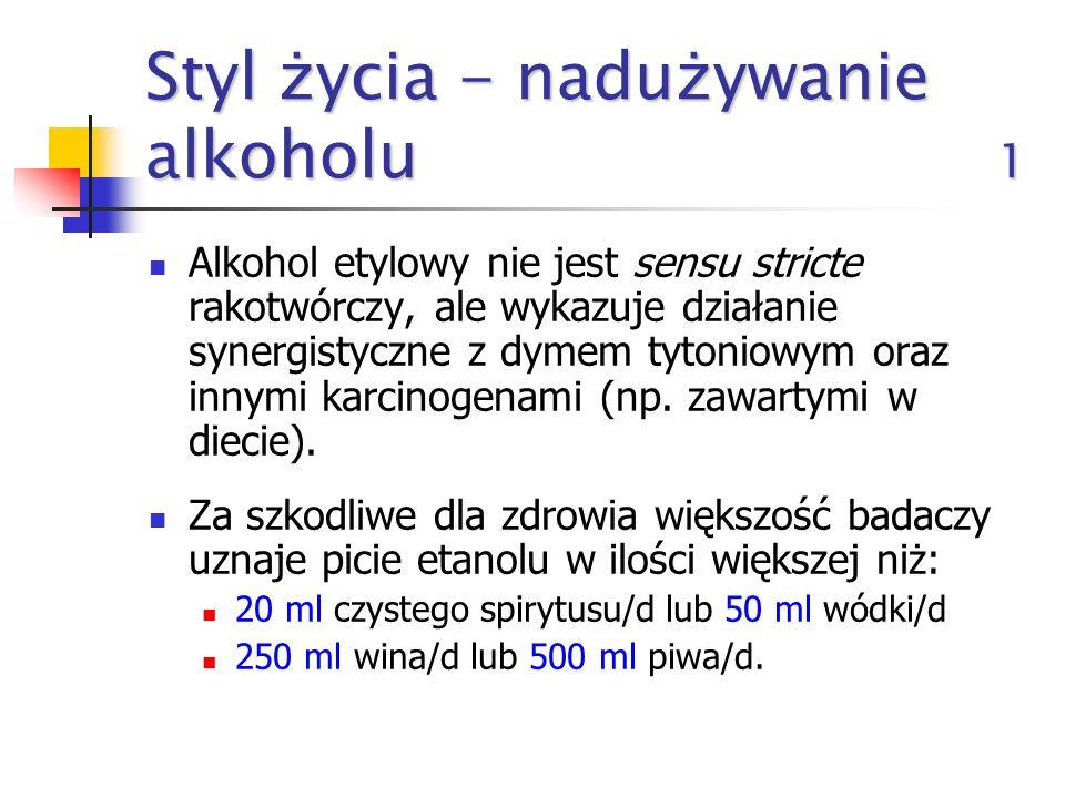 Styl życia - nadużywanie alkoholu 1