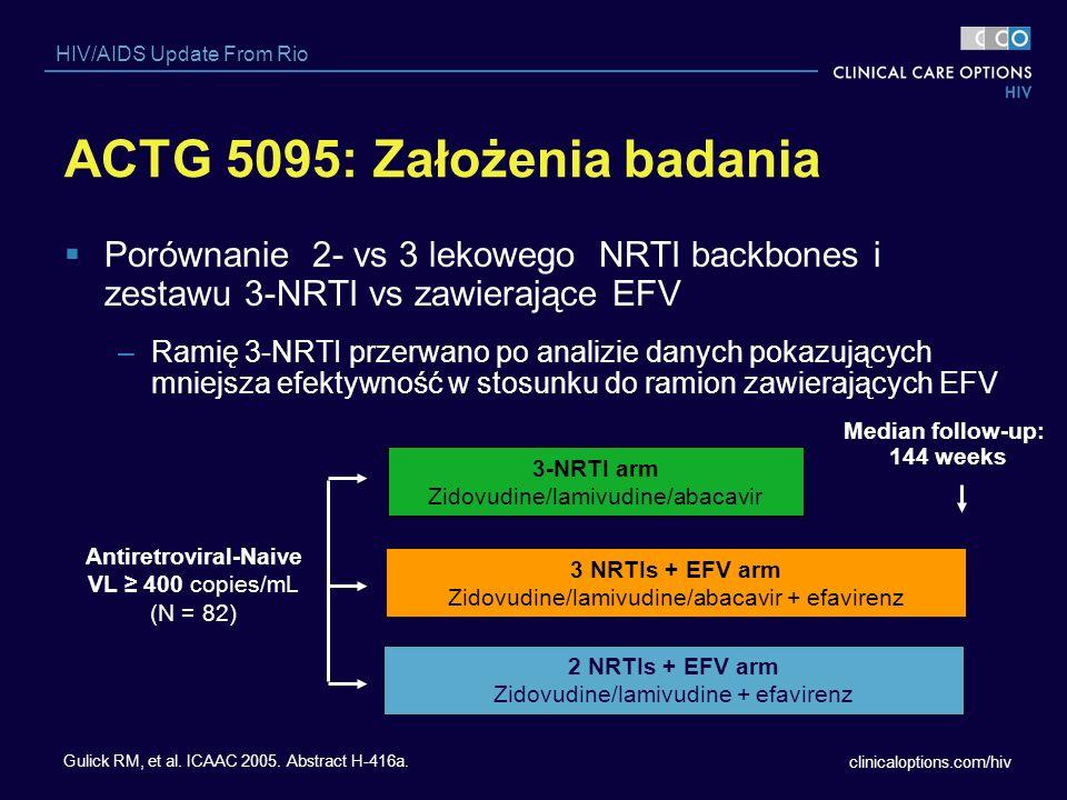 ACTG 5095: Założenia badania