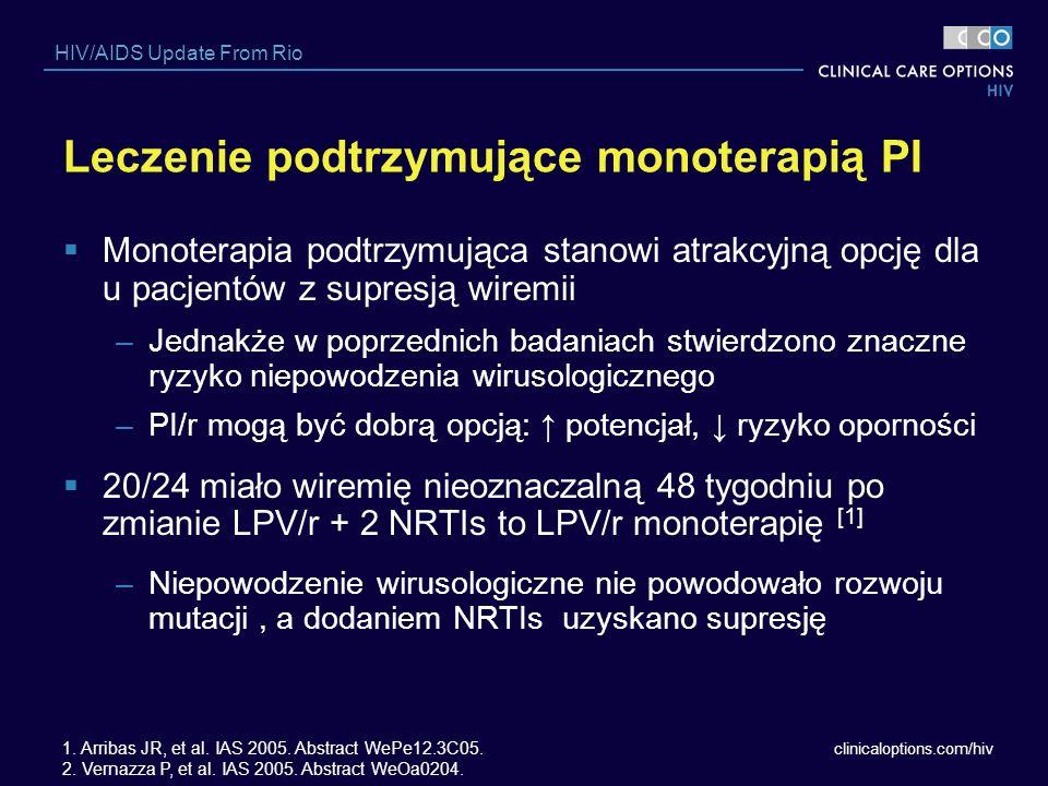 Leczenie podtrzymujące monoterapią PI