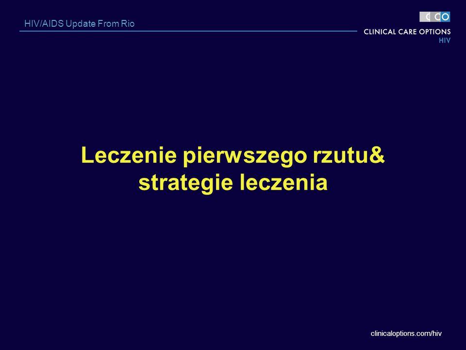 Leczenie pierwszego rzutu& strategie leczenia
