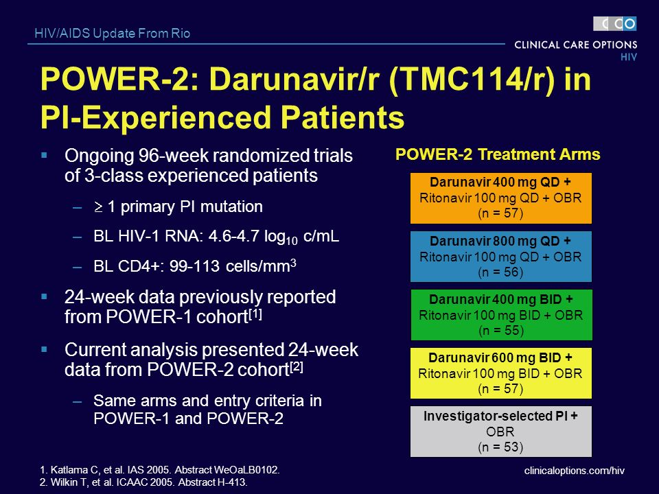 POWER-2: Darunavir/r (TMC114/r) in PI-Experienced Patients